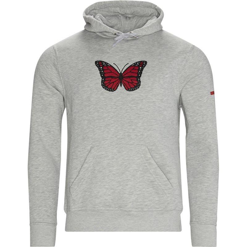 Køb Non-sens Butterfly Hoodie Grey Melange